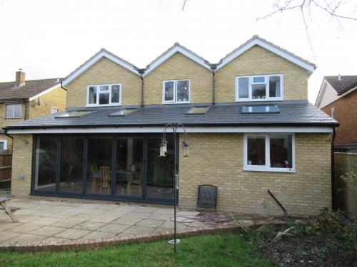Completed rear elevation