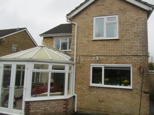Existing rear elevation prior to works starting